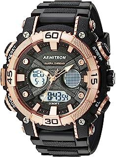 ساعة ارمترون رياضية للرجال بنظام انالوج-رقمي بسوار من البلاستيك المطاطي كرونوغراف 20/5108