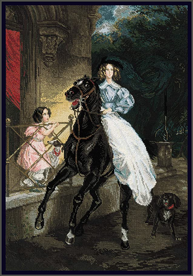 RIOLIS PREMIUM 100/044 - The Rider after K. Bryullov's Painting - Counted Cross Stitch Kit 15?