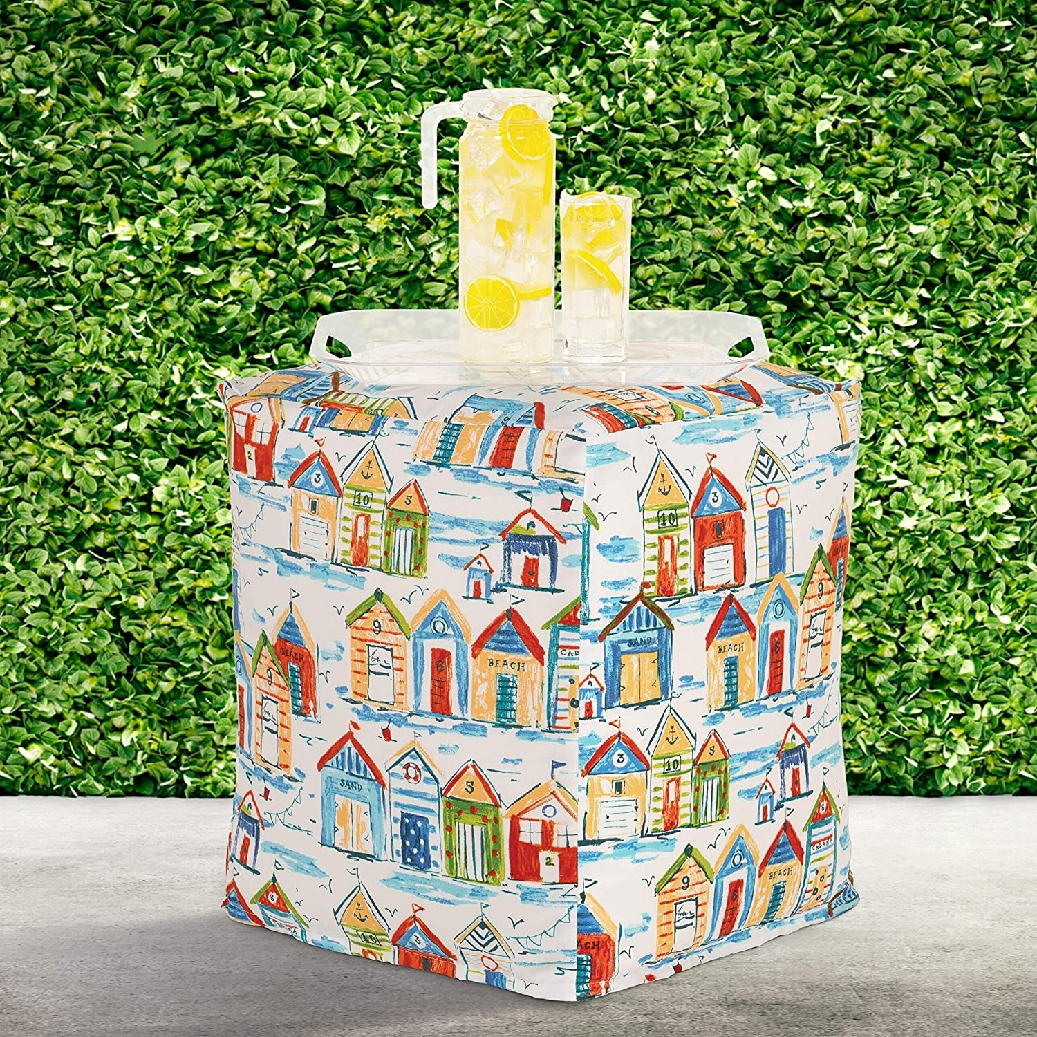Cabana Indoor-Outdoor Pouf Multi Coasta Geometric OFFicial store Nautical Color Don't miss the campaign