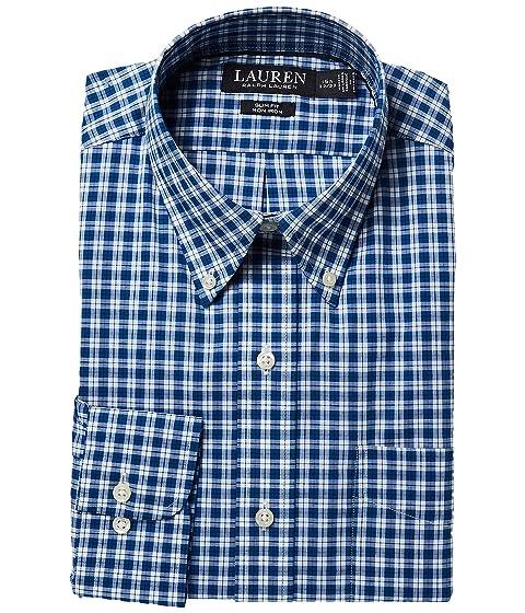 Ralph LAUREN Lauren Shirt Iron No Slim Fit Cotton Dress ZHdwqHr4