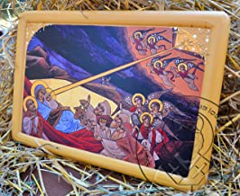 Coptic Nativity Icon 3D Acrylic Painted Religious Gesso Art Religious Gifts Buy (13.39