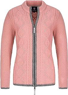 Almbock Strickjacke Damen Reissverschluss - Hochwertige Trachtenjacke Damen - Trachtenstrickjacke aus feiner Wolle in vielen Farben von Gr. S - XXL