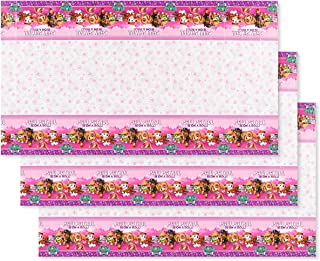 American Greetings Paw Patrol Party Supplies, Pink Table Cover (3-Count)