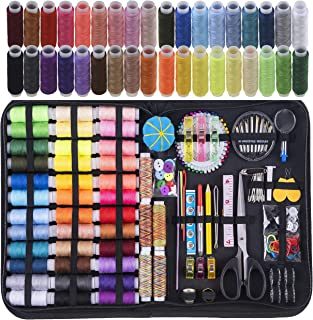 Sewing Kit, 200 Premium Sewing Supplies, 41 XL Thread Spools, Suitable for Traveller, Adults, Kids, Beginner, Emergency, D...
