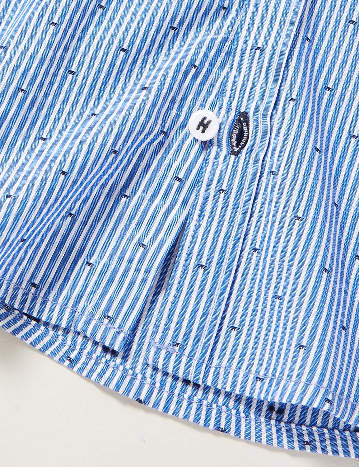 Tommy Hilfiger YD Stripe Clipping Shirt L//S Camicia Bambino