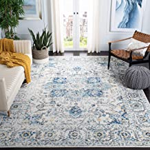 "Safavieh Madison Collection MAD603K Snowflake Medallion Distressed Area Rug, 5'1"" x 7'6"", Turquoise/Ivory"