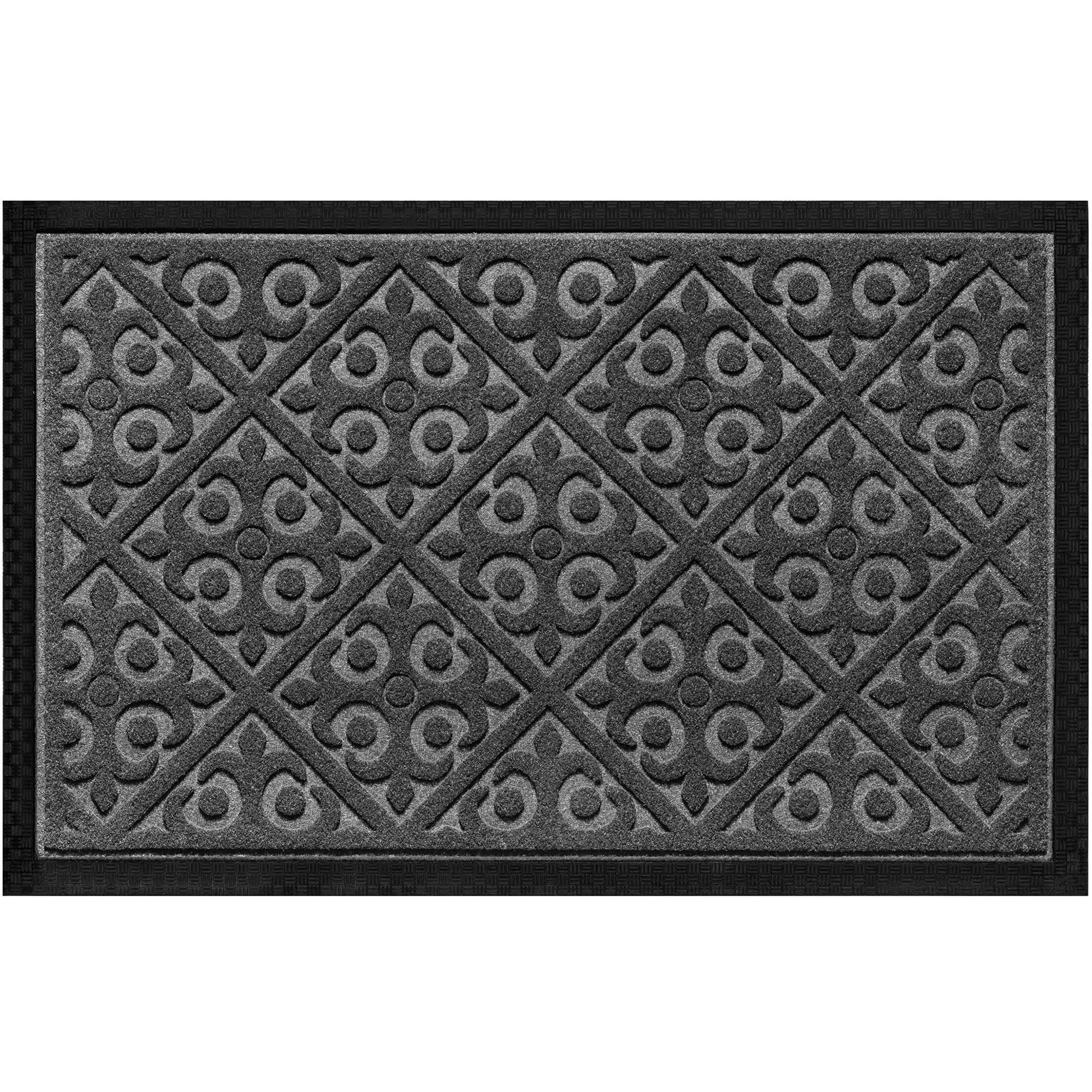 Amazon Com Door Mat Indoor Outdoor Ideal Welcome Mat Or Front Door Mats Entry Rug For Inside Outside Non Slip Slim Profile Doormat Traps Dirt Patio Grass Snow