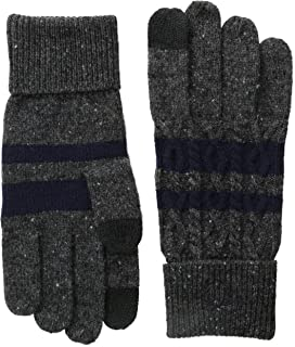 Fred Perry Men's Cable Touchscreen Gloves
