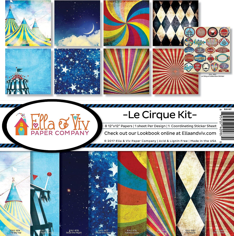 Ella Super sale Viv by Reminisce Le Kit Our shop OFFers the best service Collection Cirque Scrapbook