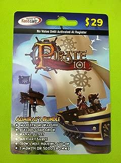 Pirate101 Admiral's Bundle Online Game Membership Card