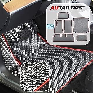 AUTAILORS Tesla Model 3 Floor Mats- All Weather Floor Mats Waterproof Lightweight and Odorless Made in USA- 6pcs in Sport Plus