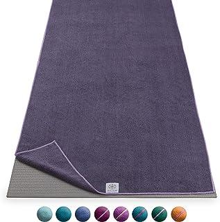 Gaiam Yoga Mat Towel Microfiber Mat-Sized Yoga Towel for Hot Yoga