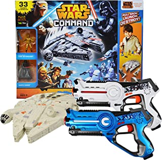 Power Brand Star Wars Millennium falcon Toy Bundle with Laser Tag Pack of 2
