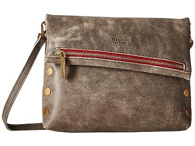 Hammitt VIP Medium (Pewter/Brushed Gold/Red Zipper) Cross Body Handbags