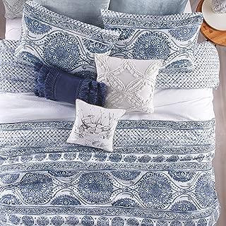 Peri Home Matelasse Medallion 100% Cotton Comforter Set, King, Blue