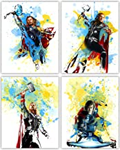Thor Movie Poster Wall Decor - Chris Hemsworth as the Mighty God of Thunder in our Wall Art Collection - Set of 4 8x10 Photos