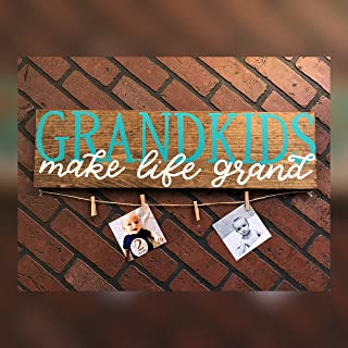 Best grandkids plaque with clothespins Reviews