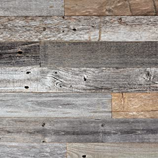 Epic Artifactory DIY Reclaimed Barn Wood Wall – Easy Peel and Stick Application, 40 sq. ft.