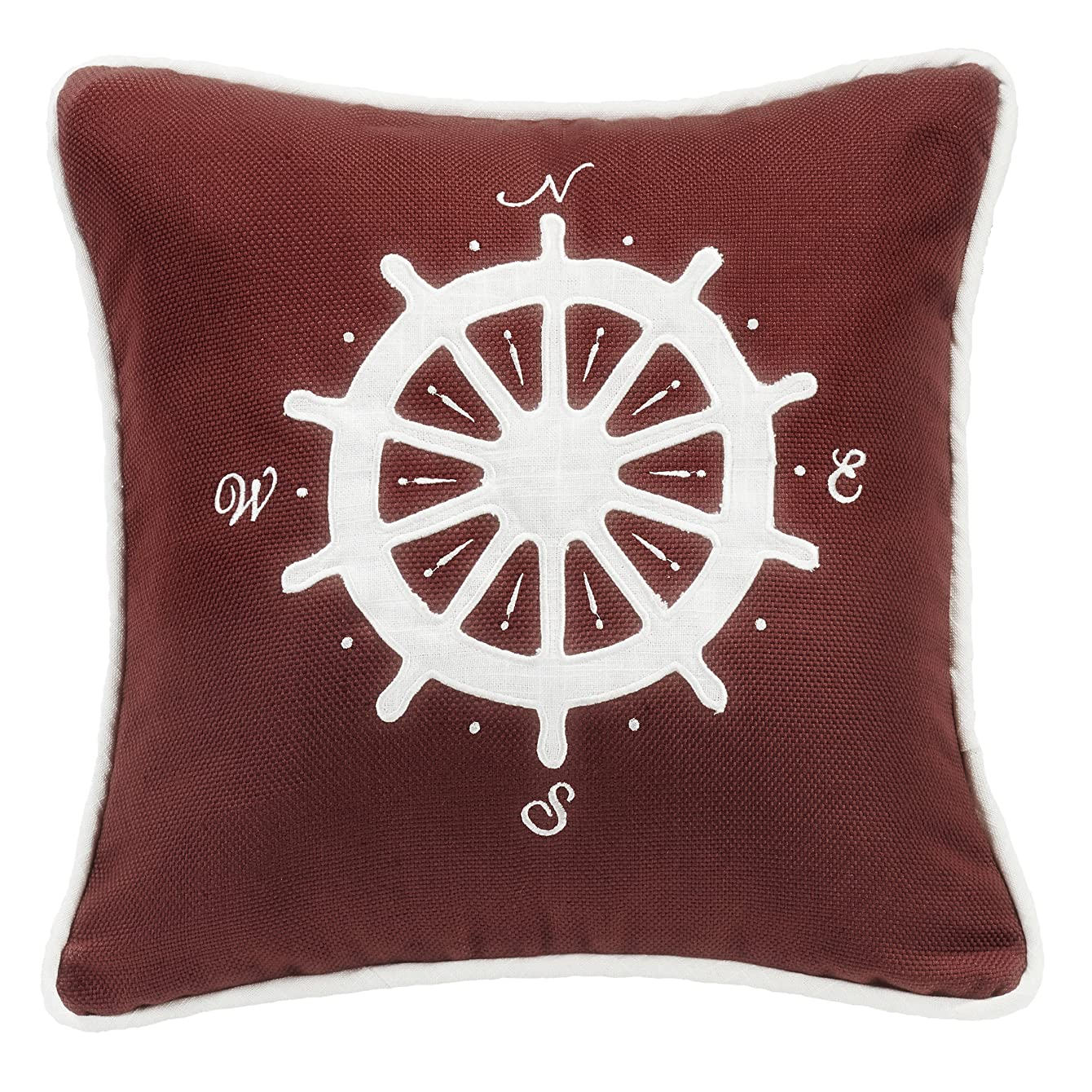 メダリストずるいコンテンツHiEndアクセントユニセックスコンパス刺繍枕?–?fb3970p6 One Size レッド FB3970P6