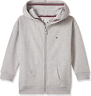 Tommy Hilfiger Girl's Essential Signature Zip Hoodie, Grey, 7 Years
