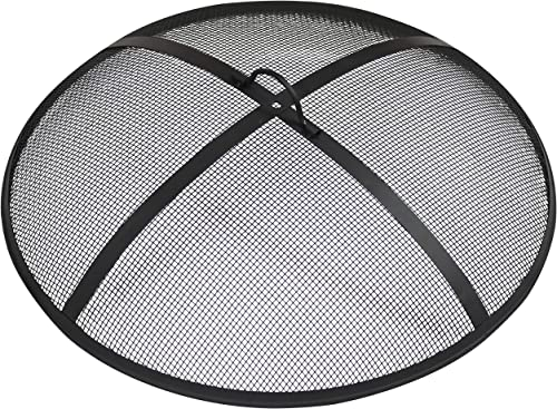 popular Sunnydaze Outdoor online sale Fire Pit Spark sale Screen Cover Guard Accessory - Round Heavy-Duty Steel Backyard Mesh Lid Ember Arrester with Handle - 36-Inch Diameter online