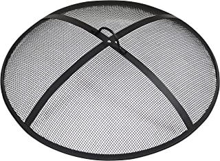 Sunnydaze Outdoor Fire Pit Spark Screen Cover Guard Accessory - Round Heavy-Duty Steel Backyard Mesh Lid Ember Arrester with Handle - 30-Inch Diameter