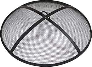 Sunnydaze Outdoor Fire Pit Spark Screen Cover Guard Accessory - Round Heavy-Duty Steel Backyard Mesh Lid Ember Arrester with Handle - 36-Inch Diameter