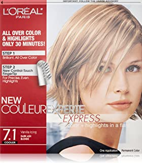 L'Oreal Paris Couleur Experte Color + Highlights in a Flash, Dark Ash Blonde - Vanilla Icing