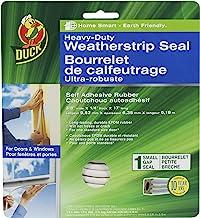 Duck Marca de vedação autoadesiva resistente para pequenas lacunas, 0,9 cm x 0,6 cm x 0,6 m, 1 vedação, 282439, cinza