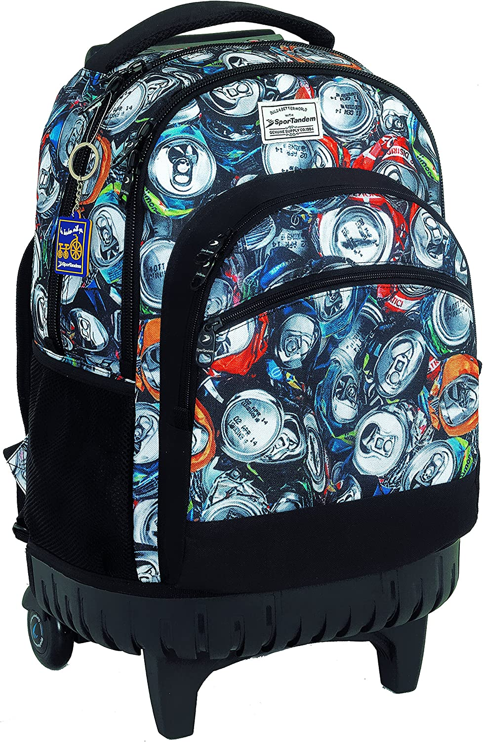 Backpack with fixed car recycling