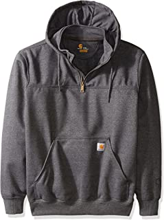 Men's Big & Tall Rain Defender Paxton Heavy Weight Hooded Zip Mock Sweatshirt