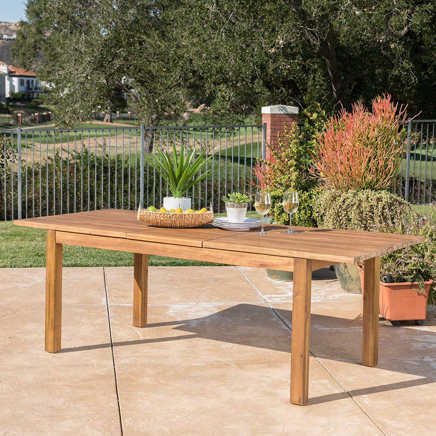 Best for Construction: Christopher Knight Home Expandable Aluminium Dining Table.