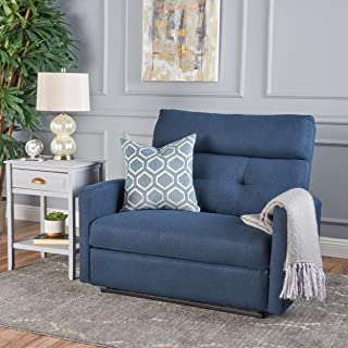 Christopher Knight Home Hana Recliner, Fabric/Navy Blue