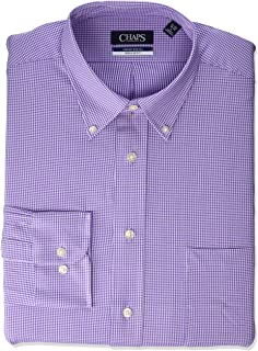CHAPS Men's Dress Shirt Regular Fit Comfort Stretch Check