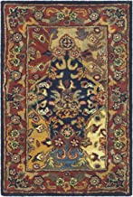 Safavieh Heritage Collection HG911A Handcrafted Traditional Oriental Multi and Burgundy Wool Area Rug (2' x 3')