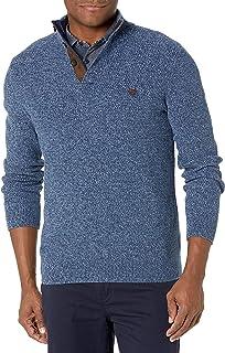 CHAPS Mens Classic Fit Twist Button Mock Sweater