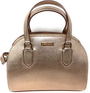 Kate Spade New York Mini Reiley Laurel Way Satchel Crossbody Bag in Rose Gold, Small