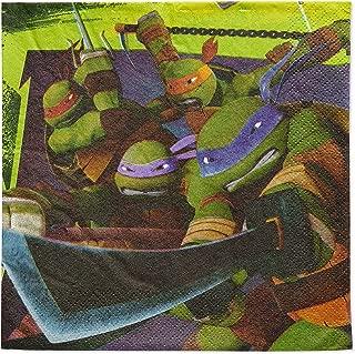 American Greetings Teenage Mutant Ninja Turtles (TMNT) Party Supplies, Paper Lunch Napkins (48-Count)