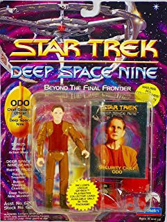 STAR TREK 1993 - Playmates - Paramount Deep Space Nine - Odo Numbered Action Figure - Plus Accessories & Skybox Collector Card - OOP - New - MOC - Collectible