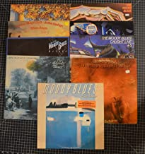 lot of 9 moody blues lps sur la mer, to our childrens..., caught live, other side of life, go now, long distance voyager, octave, blue jays, the present