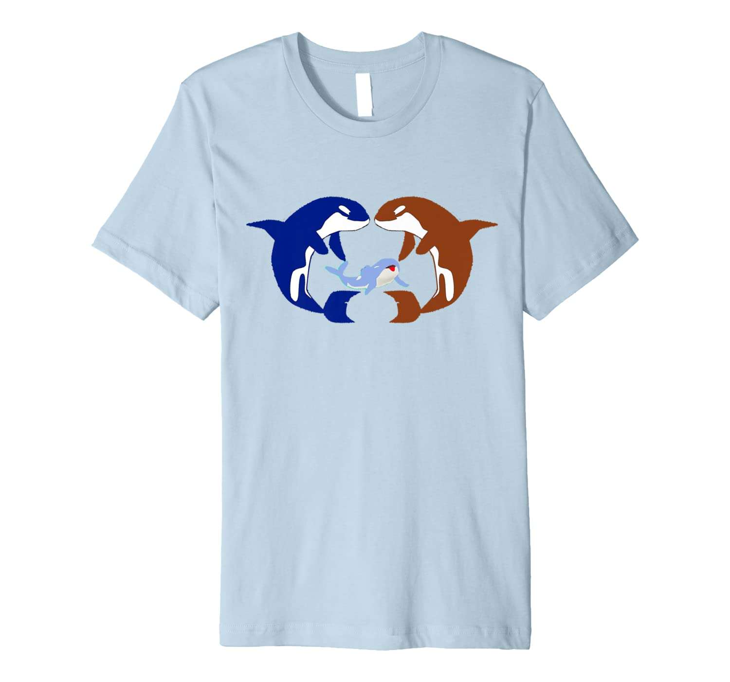 Funny Orca Lovers Gift Animal American Orca Whale Premium T-Shirt-ANZ