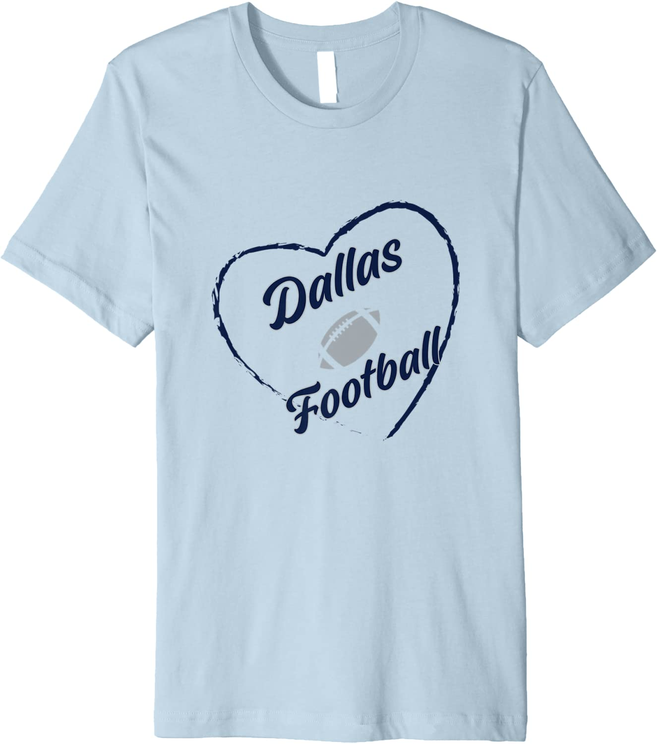I Love Dallas T-Shirt Premium Football 5 Recommended ☆ very popular