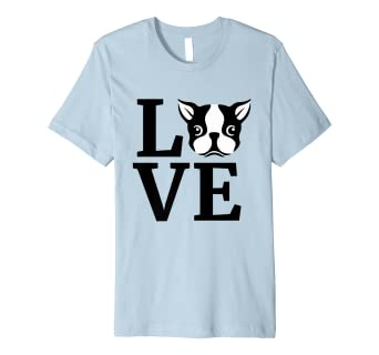fc9a4990c Image Unavailable. Image not available for. Color: I Love My Boston Terrier  T-Shirt - Gifts for Dog ...