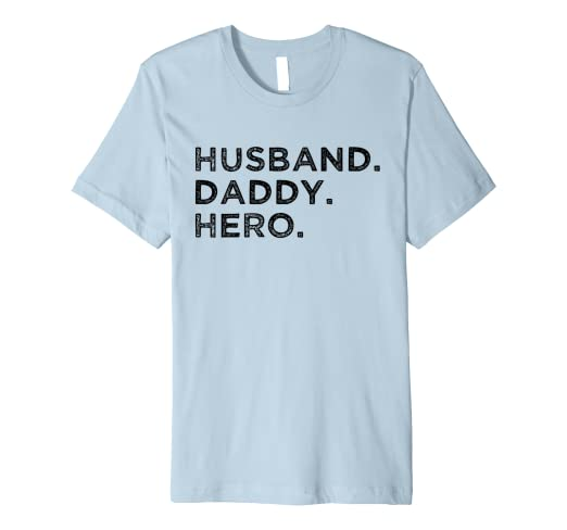 5ffb4523 Image Unavailable. Image not available for. Color: Husband Daddy Hero T  Shirt Cool Father ...