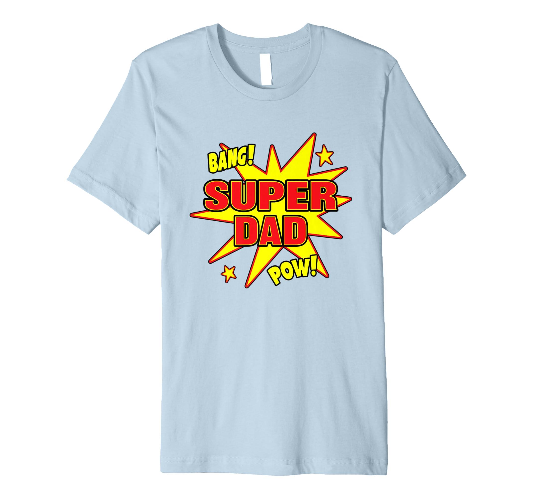 Herren Herren Super Dad T-Shirt Super Power Vater New Daddy Geschenk ...