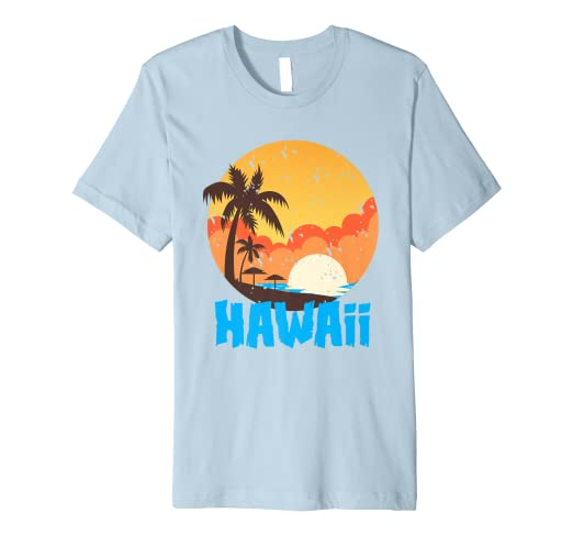 4e698d81 Image Unavailable. Image not available for. Color: Classic Hawaiian Palm  Beach Hawaii Souvenir T-Shirt