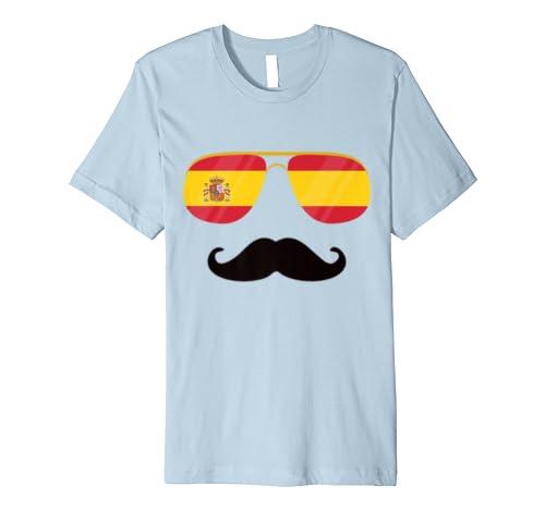 Spanische Flagge mit Schnurrbart, Motiv der spanischen Flagge Tee ...