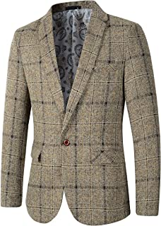 Men's Casual One Button Slim Fit Blazer Sport Coat Suit Jacket