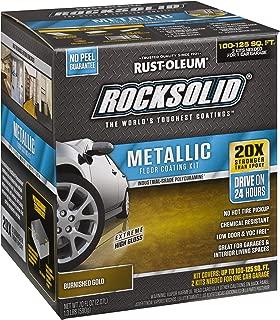 Rust-Oleum 299744 RockSolid Metallic Garage Floor Coating, Burnished Gold