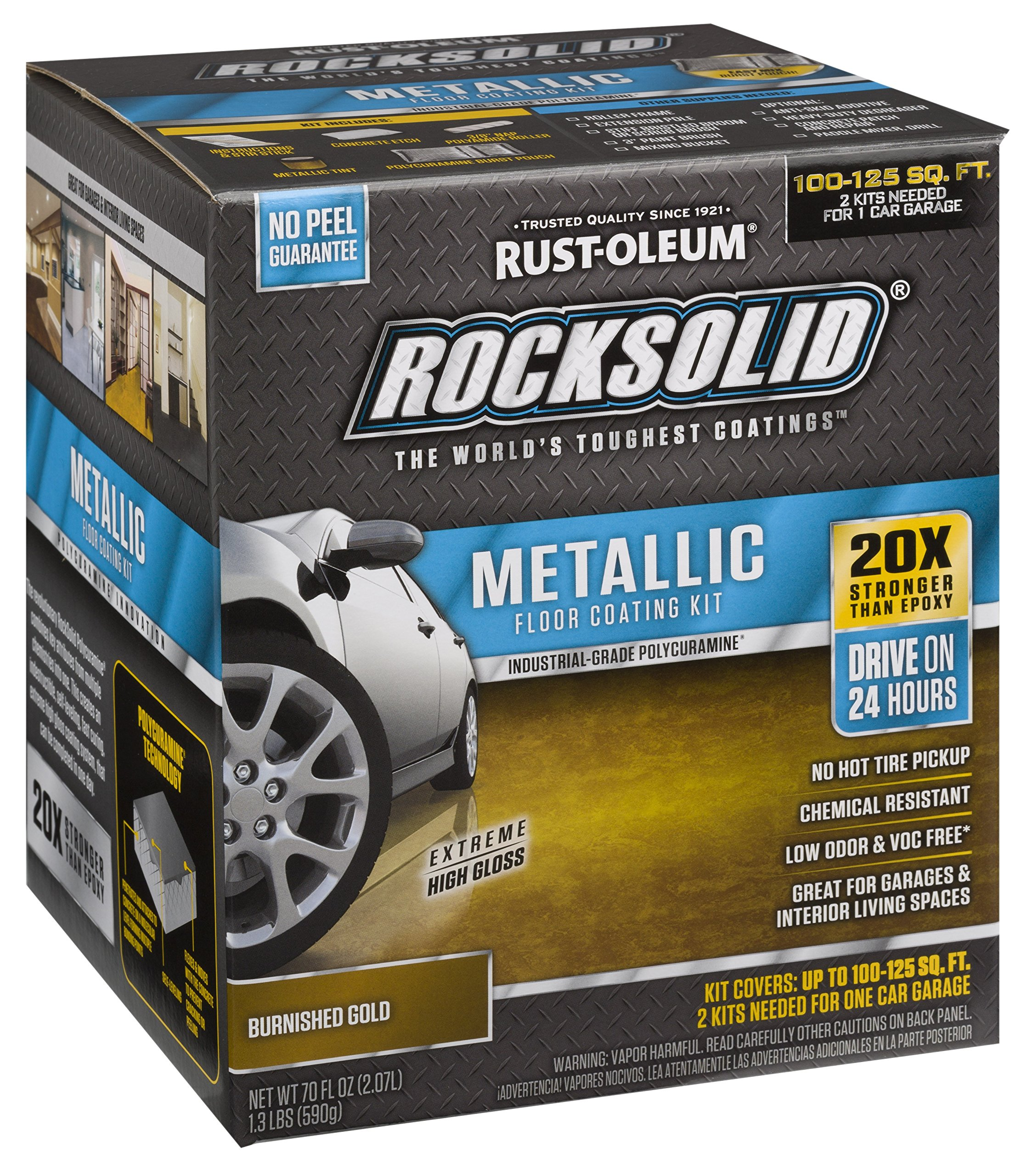 Rust Oleum 299744 RockSolid Metallic Burnished